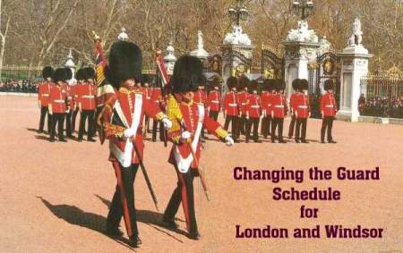 Changing the Guard Schedule for London and Windsor